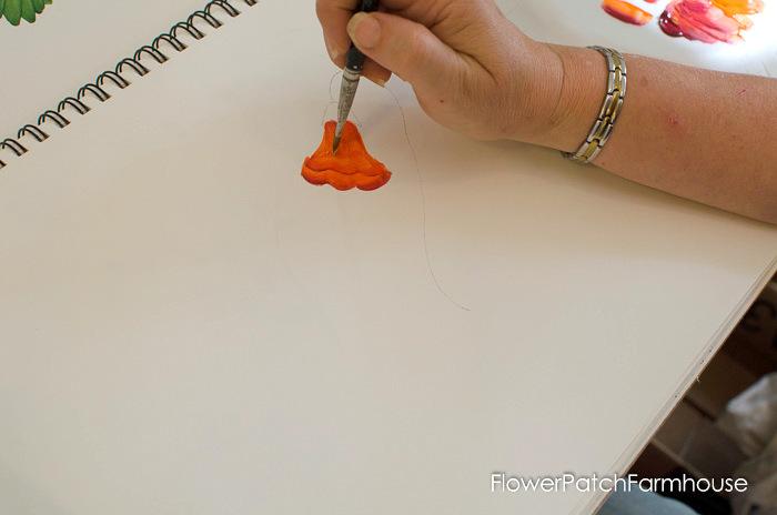 Learn how to paint Trumpet Vine, FlowerPatchFarmhouse.com (14 of 20)