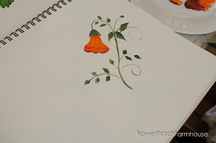 Learn how to paint Trumpet Vine, FlowerPatchFarmhouse.com (20 of 20)