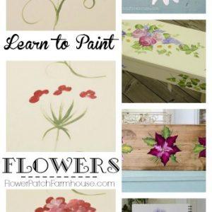 Learn to Paint Flowers side, FlowerPatchFarmhouse.com
