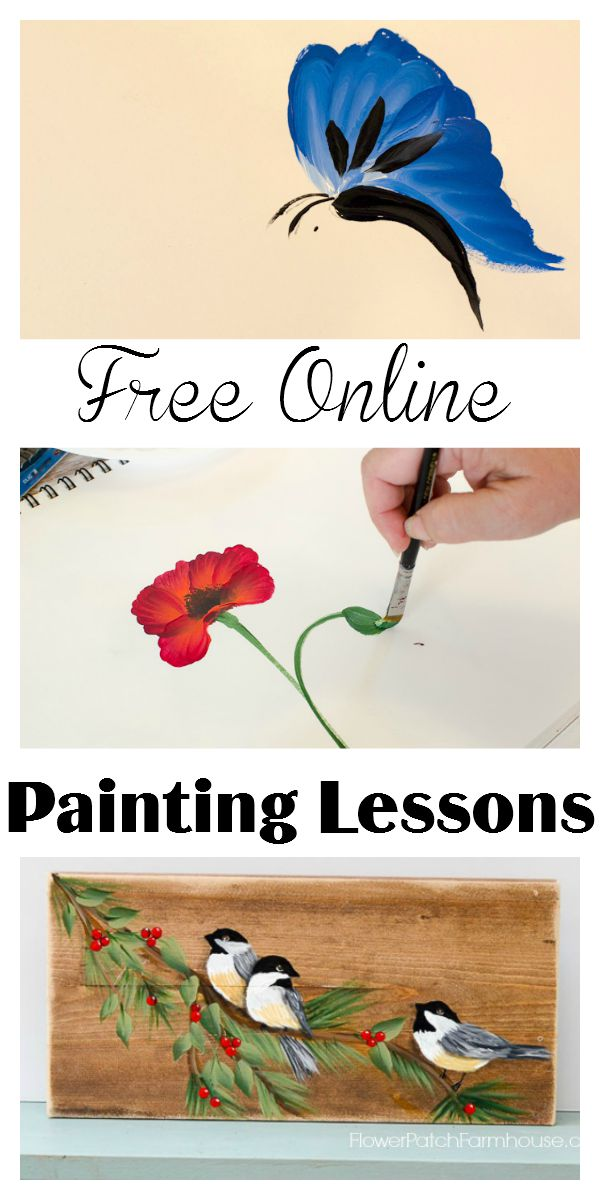 Free Online Painting Lessons - Flower Patch Farmhouse
