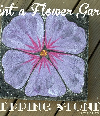 Paint a Stepping Stone Flower