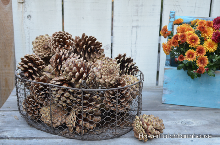 Fall Potting Bench natural decor