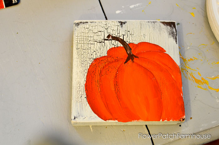 Learn How to Paint an Orange Pumpkin, great painting projects for Autumn. Easy and so much FUN! FlowerPatchFarmhouse.com