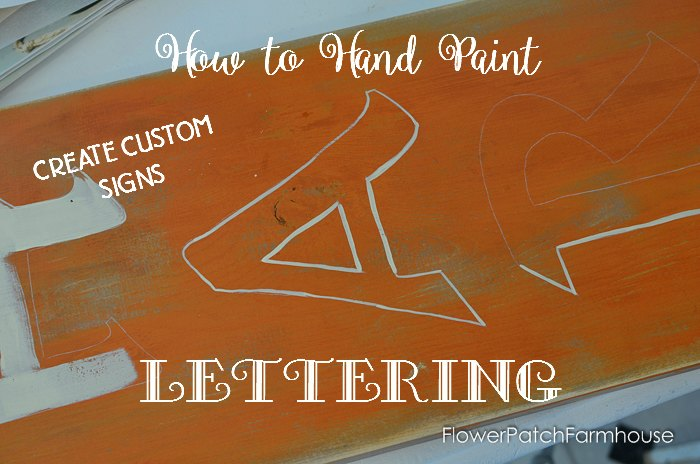 how to paint lettering so you don't need a stencil, Fall DIY Sign, easy to paint lettering