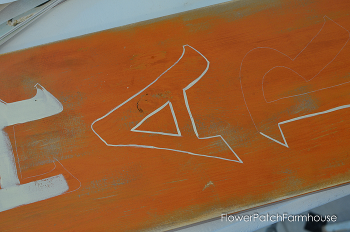 Harvest sign and how to paint lettering by hand