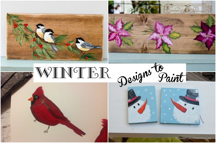 Paint Winter designs, fun and easy enough for beginners. Create gifts, cards, wrapping paper or just paint for the fun of it!
