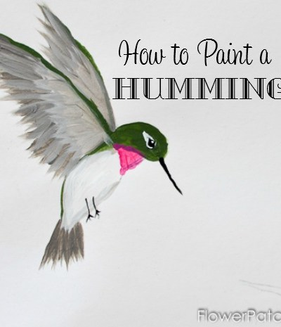 Learn how to paint a hummingbird, one stroke at a time. Easy enough for a beginner and so much fun. You can easily switch up the colors for a variety of hummers. Come paint with me! FlowerPatchFarmhouse.com