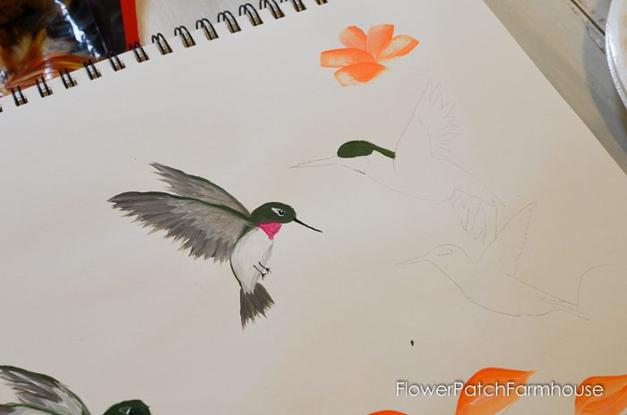 how to paint a hummingbird one stroke at a time, FlowerPatchFarmhouse.com (10 of 33)