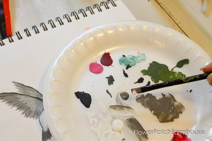 how to paint a hummingbird one stroke at a time, FlowerPatchFarmhouse.com (14 of 33)