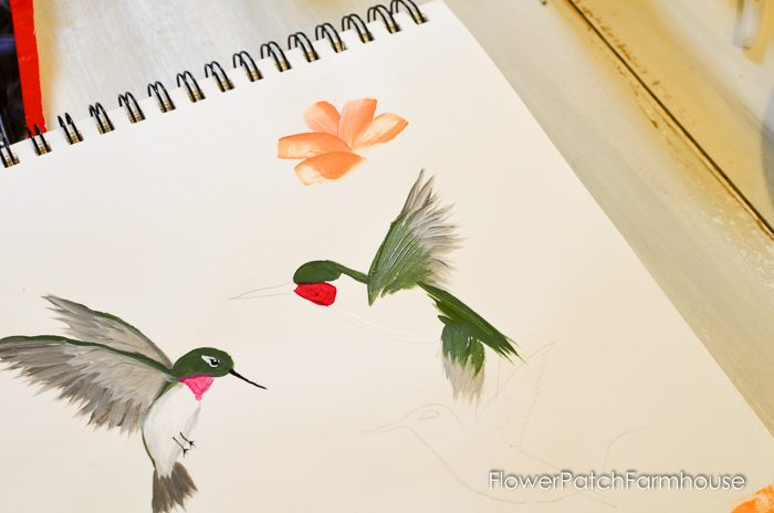 how to paint a hummingbird one stroke at a time, FlowerPatchFarmhouse.com (19 of 33)