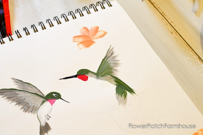 how to paint a hummingbird one stroke at a time, FlowerPatchFarmhouse.com (22 of 33)