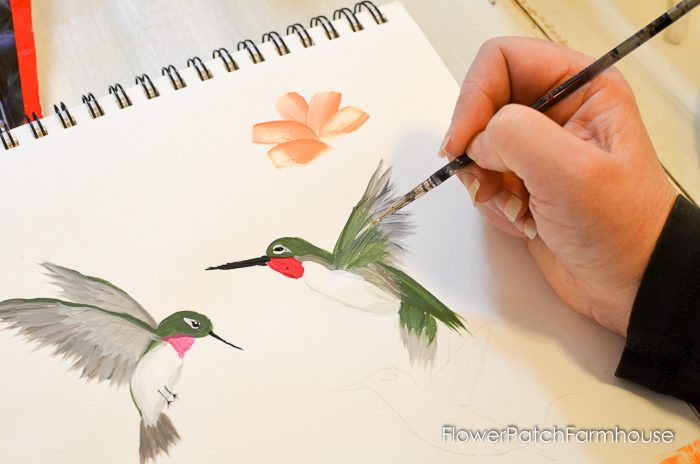 how to paint a hummingbird one stroke at a time, FlowerPatchFarmhouse.com (25 of 33)