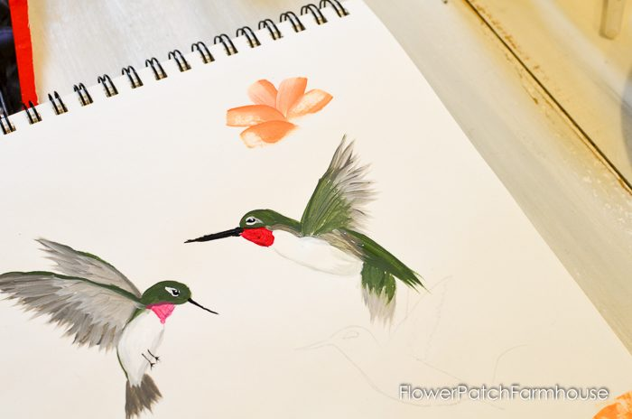 how to paint a hummingbird one stroke at a time, FlowerPatchFarmhouse.com (26 of 33)