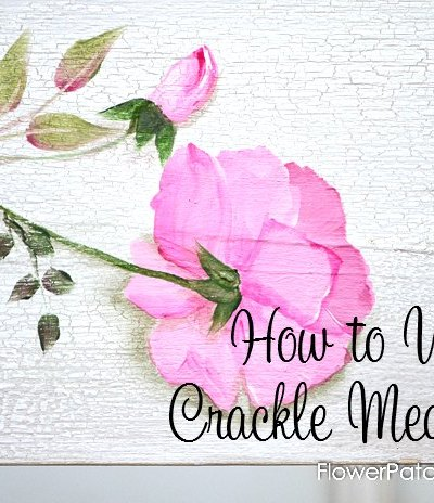 Get different effects with crackle mediums by how you apply it. A great way to add texture and interest to your projects! FlowerPatchFarmhouse.com