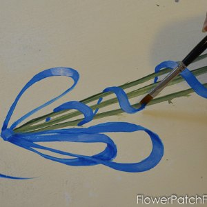 How to Paint Ribbons 4, FlowerPatchFarmhouse.com