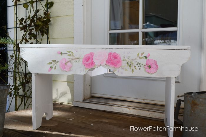Sweet Heart Rosy Bench, FlowerPatchFarmhouse.com (2 of 2)