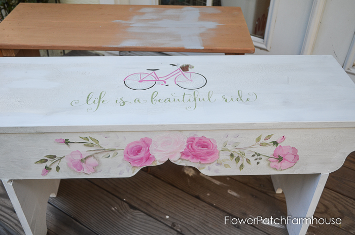 Life is a Beautiful Ride Sweetheart Bench, FlowerPatchFarmhouse.com (2 of 8)