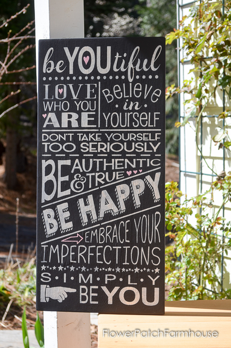 beYoutiful sign white on black, FlowerPatchFarmhouse.com (4 of 4)