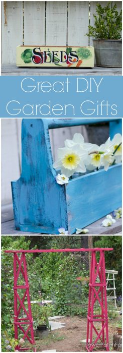 Great DIY Garden Gifts, for mom, grandma, dad or grandpa. Any gardener would love to get these! FlowerPatchFarmhouse.com