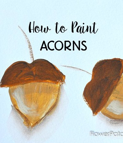 Quick and easy how to paint acorns tutorial. Add to your Fall painting and decor projects for a fun splash of Autumn.