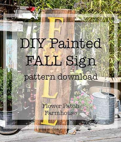 DIY Hand Painted Fall Sign