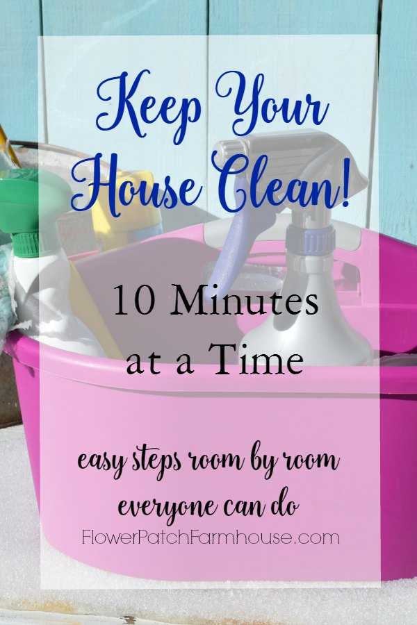 Keeping your house clean is not as hard as you think.  Break it down to manageable tasks and you can keep your house clean in as little as 10 minutes at a time.  Even the busiest of people can manage to do that, you will be happier for it as well!