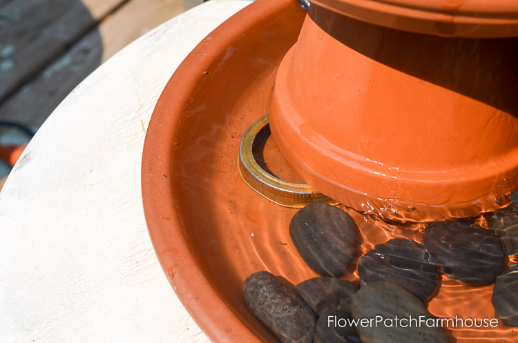 DIY Terra Cotta Pot Fountain