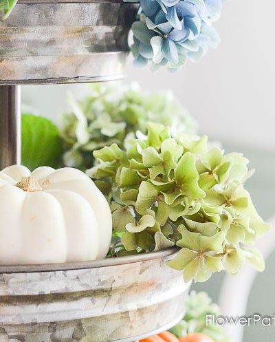 Hydrangeas and Pumpkins for Fall