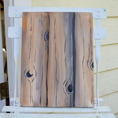 Faux Wood Grain in Acrylics