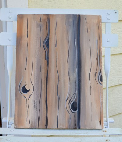 Paint Faux Wood Grain in Acrylics