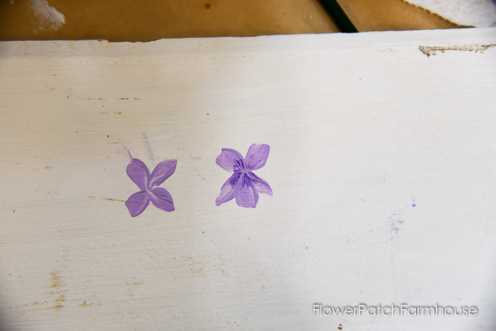 add details to the painted violet