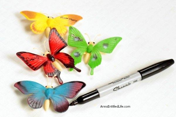 Butterfly garden markers