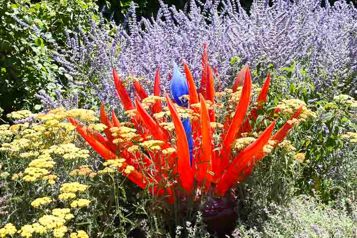 Glass art in Filoli gardens