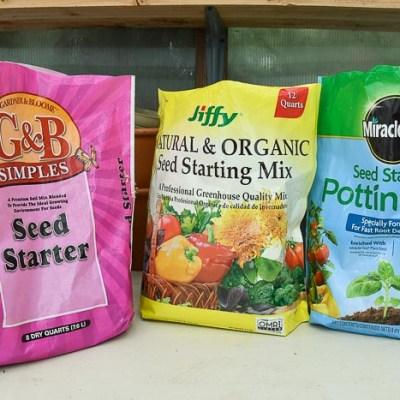 Seed starting mixes
