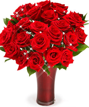 Red Roses Bouquet For ValentinePNG 1 Comment