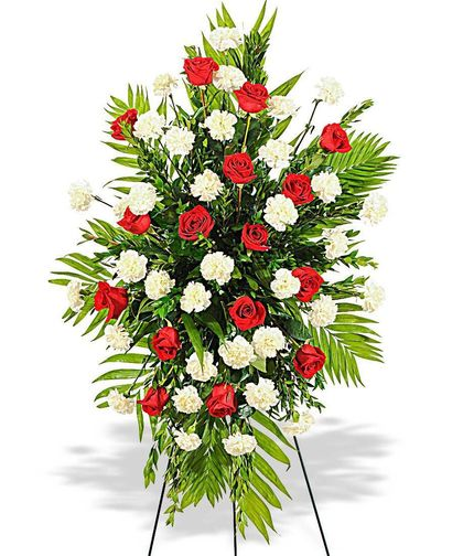 Rose And Carnation Standing Spray