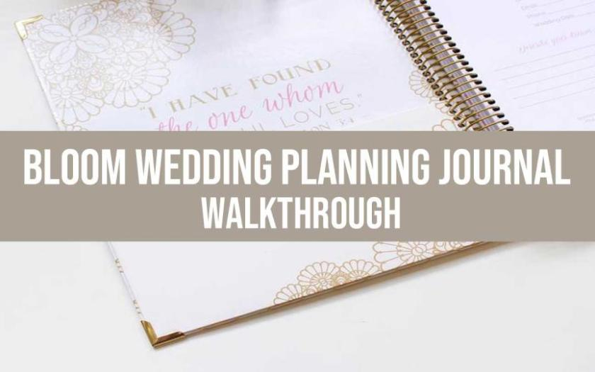 wedding planning journal
