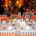 Orange and Gray Tablescape