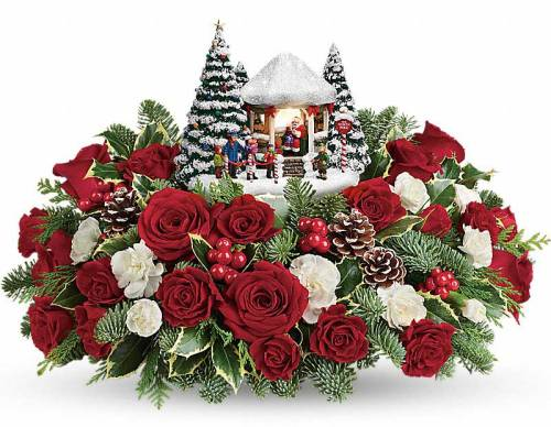 Thomas Kincade Jolly Santa Bouquet