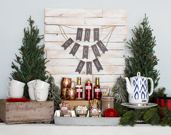 Holiday Party Decorating Ideas Hot Cocoa Bar