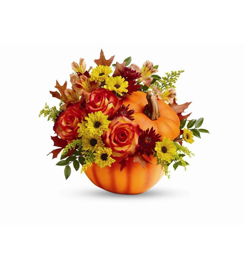 Telefloras Warm Fall Wishes Bouquet T13H110A 5576