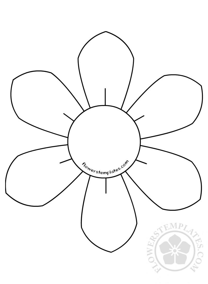 Цветок с лепестками рисунок