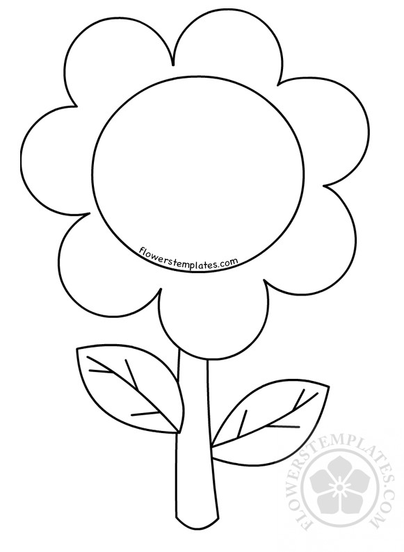 Flower Coloring Pages For Preschoolers Children Flowers Templates