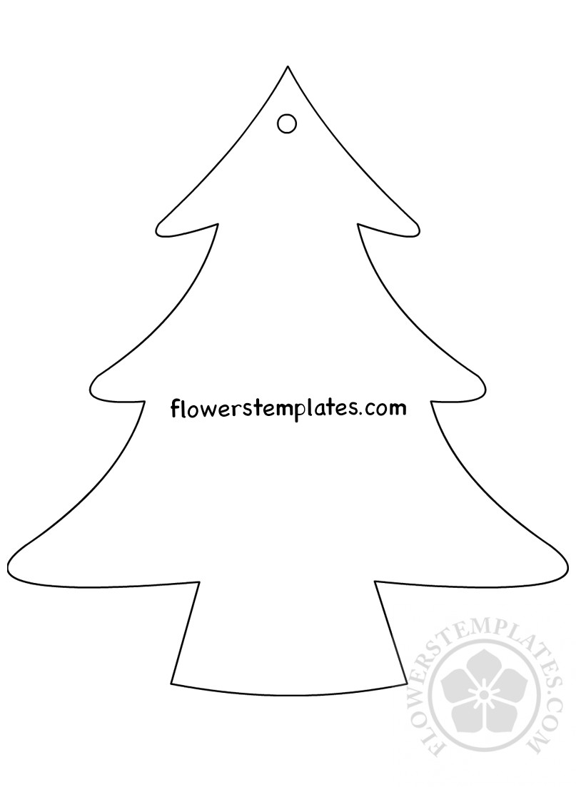christmas tree template hanging ornaments flowers templates christmas tree template hanging