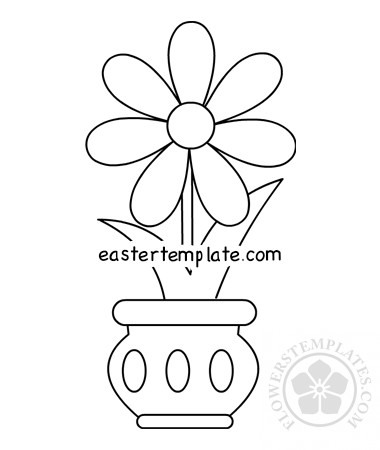 Flower in Vase free printable