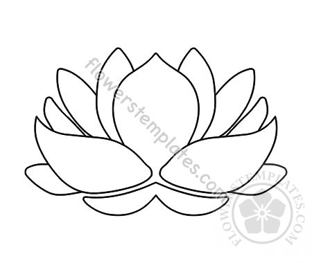 Lotus Flower Coloring Page Flowers Templates