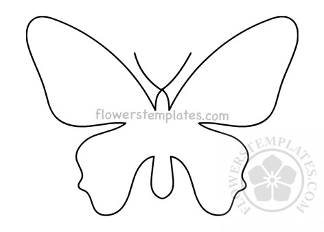 It is a photo of Butterfly Cut Out Printable regarding bunny cutout