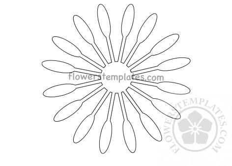oval paper flower center