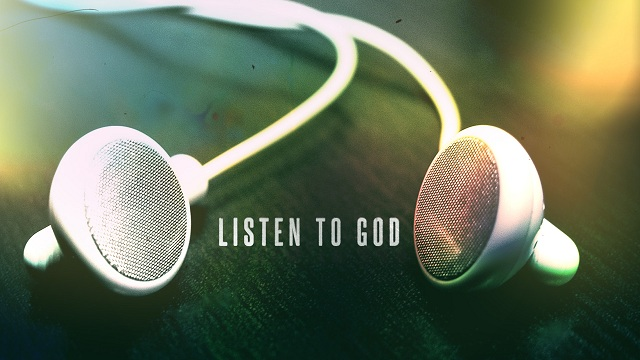 Image result for listen to god
