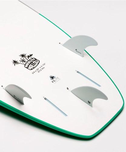 Flowt Marshmallow 50 Green Bottom Tail Details